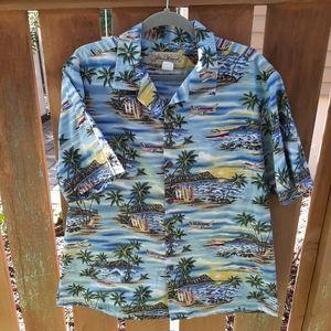 Mens Blue Hawaii vintage shirt